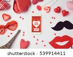 online dating app concept with... | Shutterstock . vector #539914411