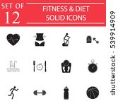 fitness   diet solid pictograms ...