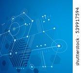 3d vector abstract blue... | Shutterstock .eps vector #539917594