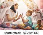 happy loving family. mother and ... | Shutterstock . vector #539924137