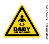 baby on board sign  stock ... | Shutterstock .eps vector #539924191