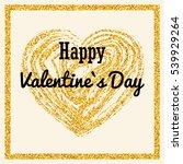 heart of golden glitter on... | Shutterstock .eps vector #539929264