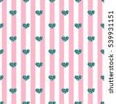 seamless green heart glitter... | Shutterstock .eps vector #539931151