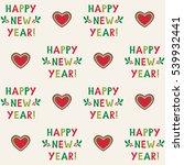new year seamless vector... | Shutterstock .eps vector #539932441