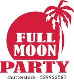 full moon party at the beach | Shutterstock .eps vector #539933587