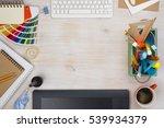 graphic designer desk... | Shutterstock . vector #539934379