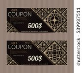gift voucher in luxury style.... | Shutterstock .eps vector #539937511