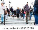 crowds of people in motion blur ... | Shutterstock . vector #539939389