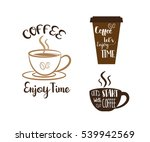 coffee time  coffee enjoy time  ... | Shutterstock .eps vector #539942569