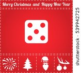 dice icon vector. and bonus...   Shutterstock .eps vector #539942725