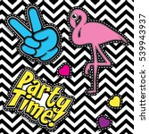 pop art fashion chic patches ... | Shutterstock .eps vector #539943937