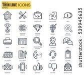 thin line basic icons set for... | Shutterstock .eps vector #539945635
