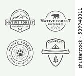 set of vintage camping outdoor... | Shutterstock .eps vector #539948311
