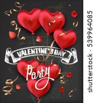 valentine's day party... | Shutterstock .eps vector #539964085