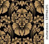 vector damask seamless pattern... | Shutterstock .eps vector #539966191