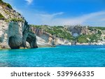 beautiful view on blue caves... | Shutterstock . vector #539966335