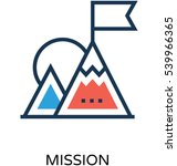 mission vector icon  | Shutterstock .eps vector #539966365