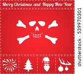 skull icon vector. and bonus... | Shutterstock .eps vector #539970301