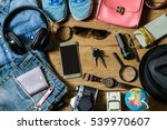 planning for trip set of travel ... | Shutterstock . vector #539970607