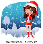 christmas girl | Shutterstock .eps vector #5399719