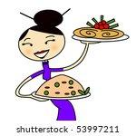 chinese waiter | Shutterstock . vector #53997211