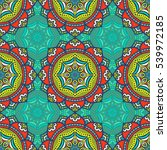 ethnic floral seamless pattern. ... | Shutterstock . vector #539972185