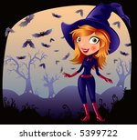 halloween girl | Shutterstock .eps vector #5399722