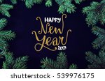 christmas and new year greeting ... | Shutterstock . vector #539976175