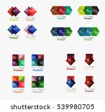 collection of geometric paper... | Shutterstock .eps vector #539980705