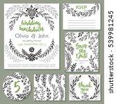 vector wedding collection.... | Shutterstock .eps vector #539981245