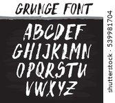 handwritten vector alphabet.... | Shutterstock .eps vector #539981704