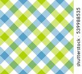 Blue Green Diagonal Checkered...
