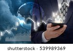 businessman works at the stock... | Shutterstock . vector #539989369