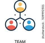 team vector icon  | Shutterstock .eps vector #539992501