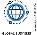 global business vector icon | Shutterstock .eps vector #539992504