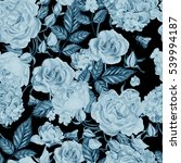 beautiful watercolor pattern... | Shutterstock . vector #539994187