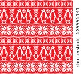 new year's christmas pattern... | Shutterstock .eps vector #539995141