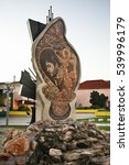 Small photo of PRILEP MACEDONIA 19 OCTOBER 2014 : Monument to Todor Tose Proeski in Prilep. Macedonia