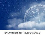 new year is coming. circle... | Shutterstock .eps vector #539996419