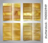 brochure design templates set... | Shutterstock .eps vector #540003949