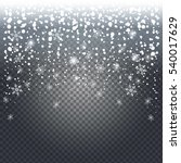 falling snow on transparent... | Shutterstock .eps vector #540017629