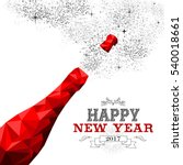 happy new year 2017 fancy red... | Shutterstock .eps vector #540018661