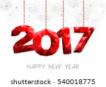 new year 2017 red holiday... | Shutterstock .eps vector #540018775