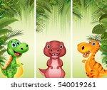 set of three dinosaur | Shutterstock .eps vector #540019261