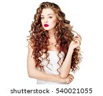beautiful people. curly hair.... | Shutterstock . vector #540021055