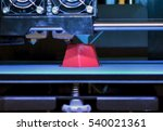 3d printer printing red faceted ... | Shutterstock . vector #540021361