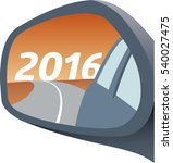 rear view mirror with year 2016 ... | Shutterstock .eps vector #540027475