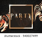 party day background gold... | Shutterstock .eps vector #540027499