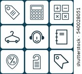 set of 9 commerce icons.... | Shutterstock .eps vector #540028051