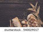 bread border on wood with copy... | Shutterstock . vector #540029017